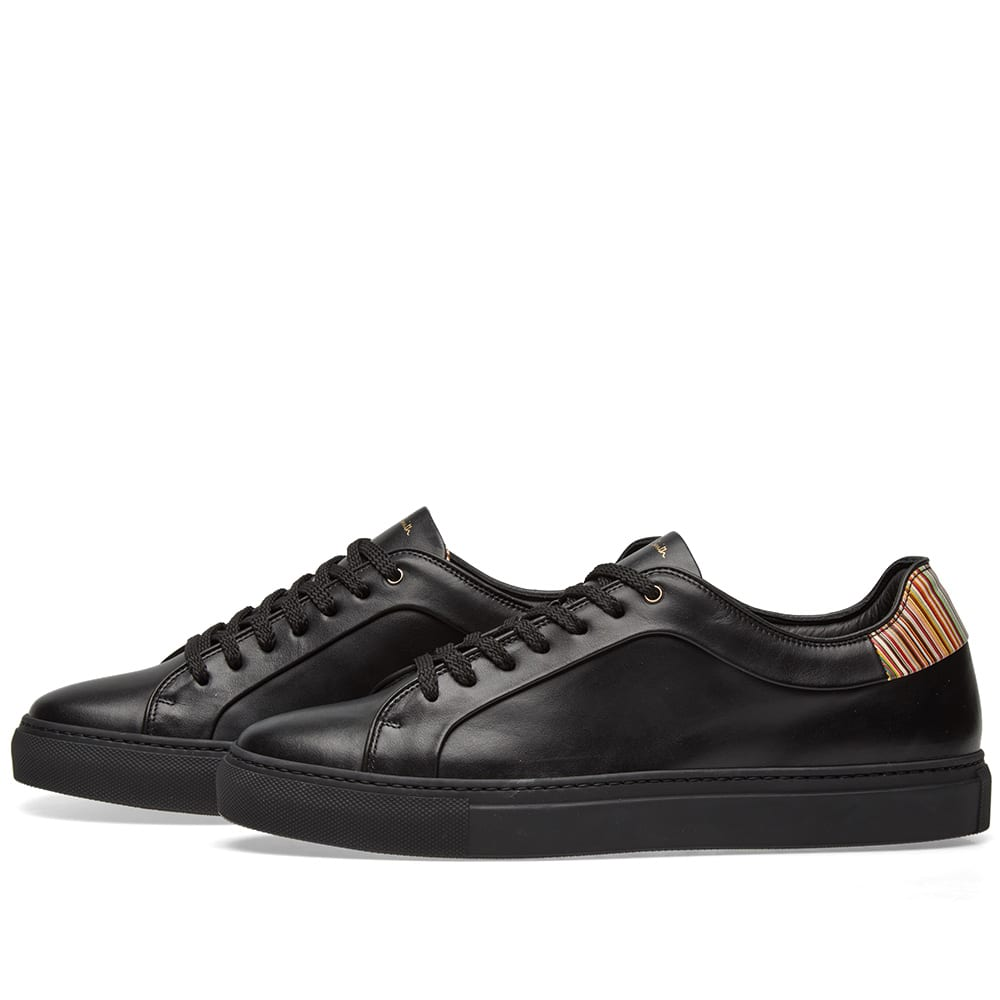 Basso Leather Sneakers - BlackPaul Smith