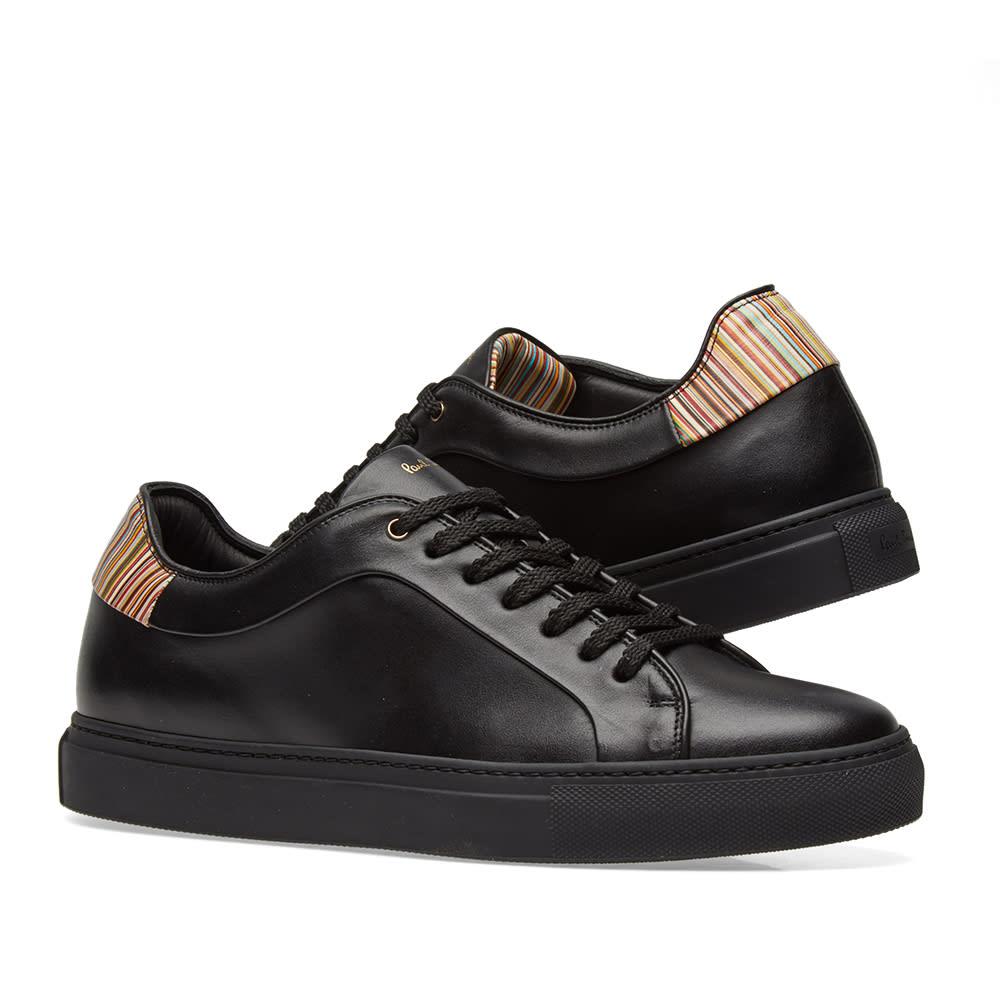 3ae1ef754c0 Paul Smith Basso Sneaker Black   Multi Leather