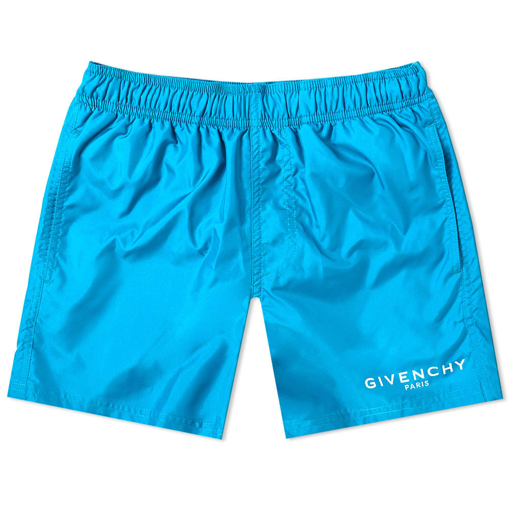 090432102563dd Givenchy Logo Short Swim Short Bright Blue
