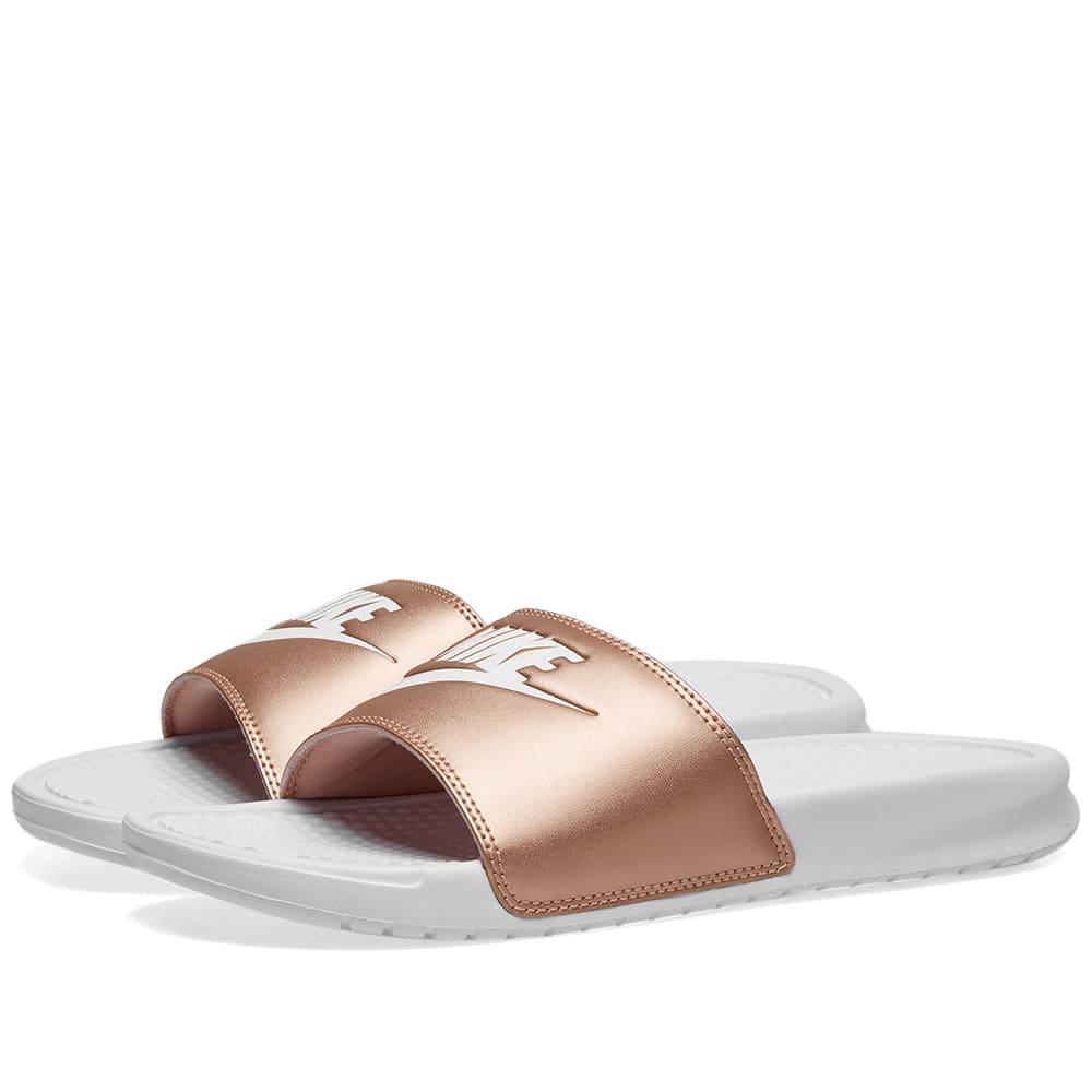 separation shoes 56285 5e7c4 Nike Benassi JDI W White   Red Bronze   END.