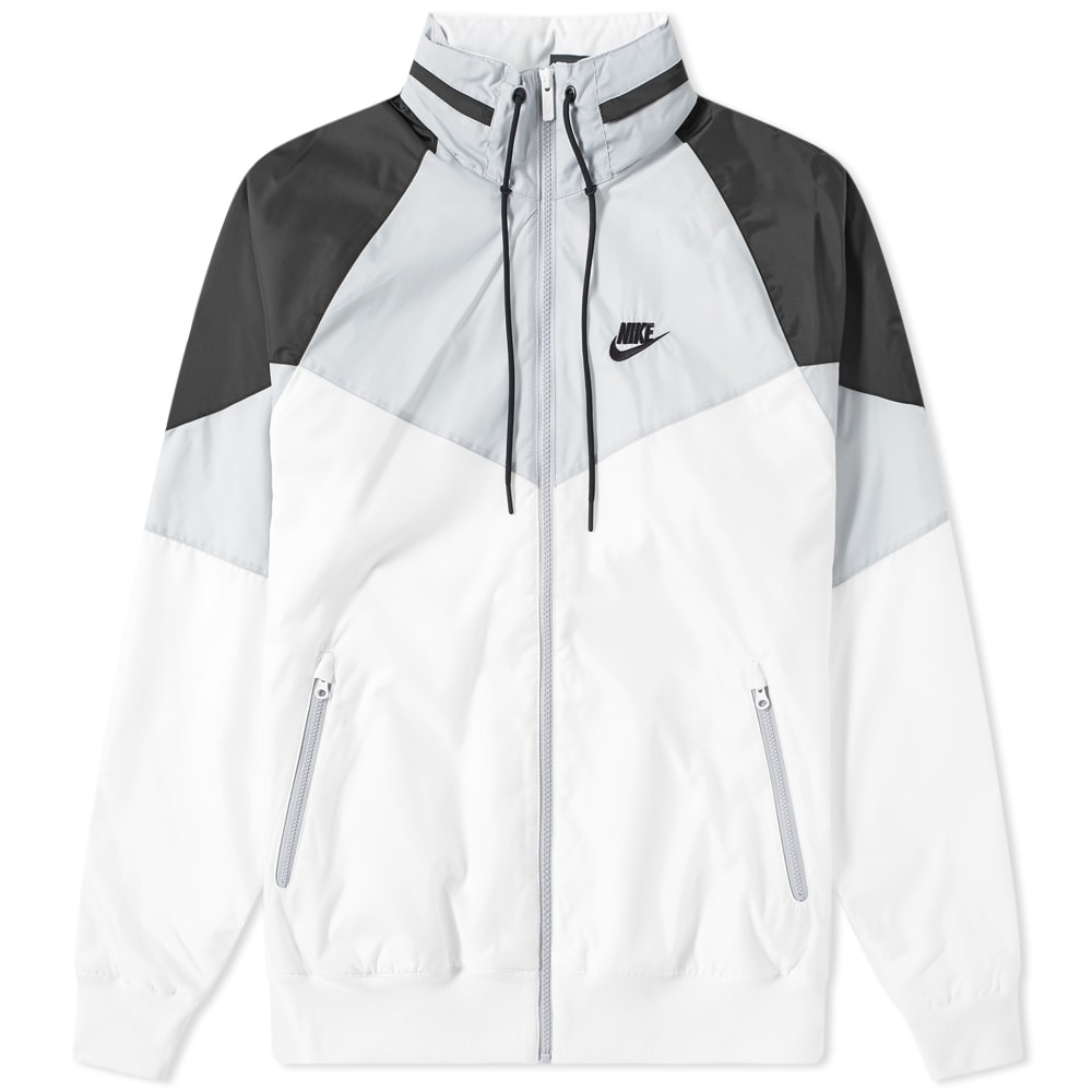 maquinilla de afeitar cuestionario sufrimiento  Nike Heritage Windrunner Jacket White, Wolf Grey & Black   END.