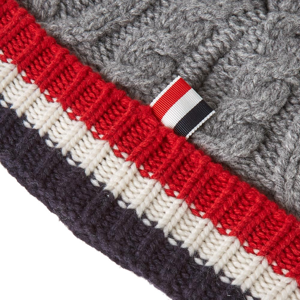 aa52aff6c Thom Browne Merino Aran Cable Hat