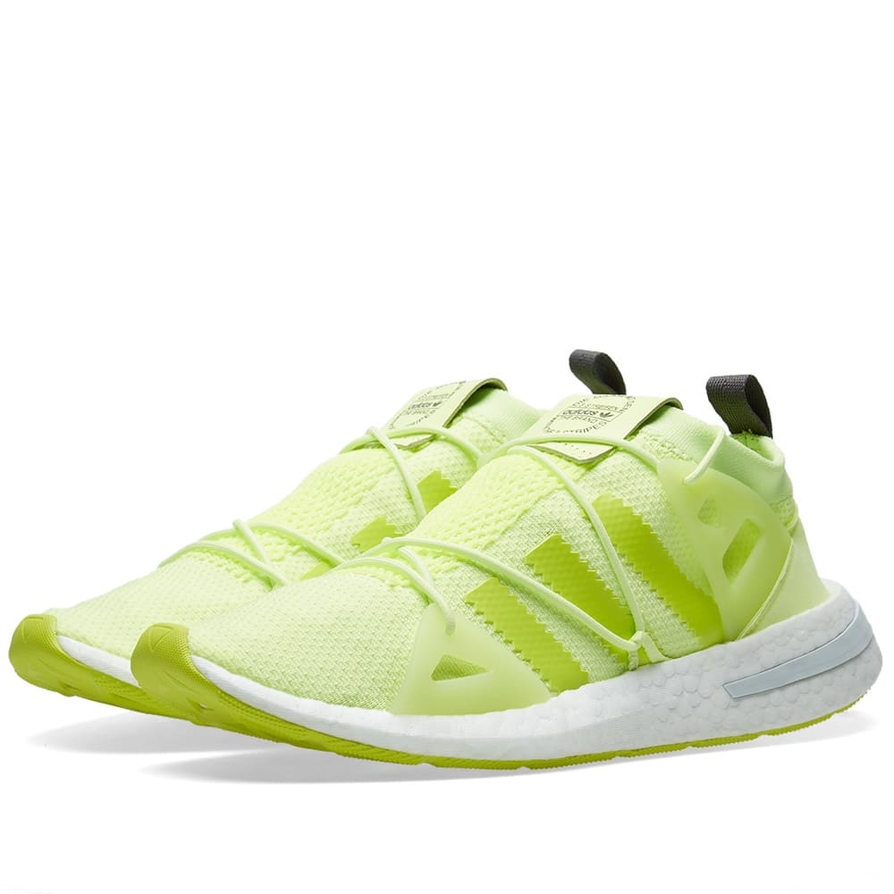 Arkyn Rubber-Trimmed Neon Mesh Sneakers in Chartreuse