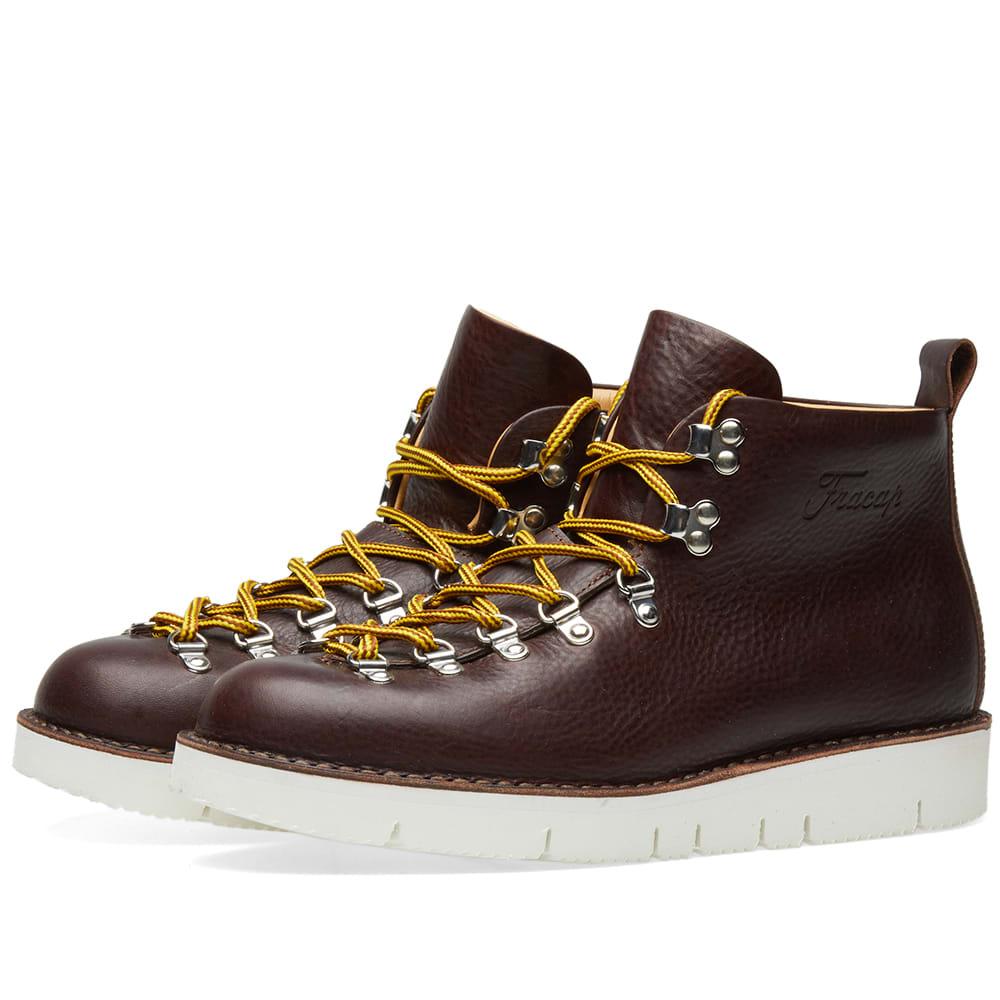 FRACAP Fracap M120 Cut Vibram Sole Scarponcino Boot in Brown