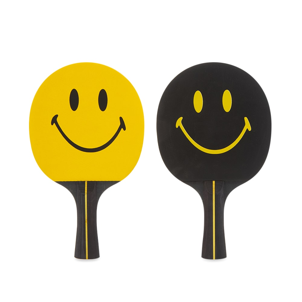 Chinatown Market Smiley Ping Pong Paddle Set Yellow End