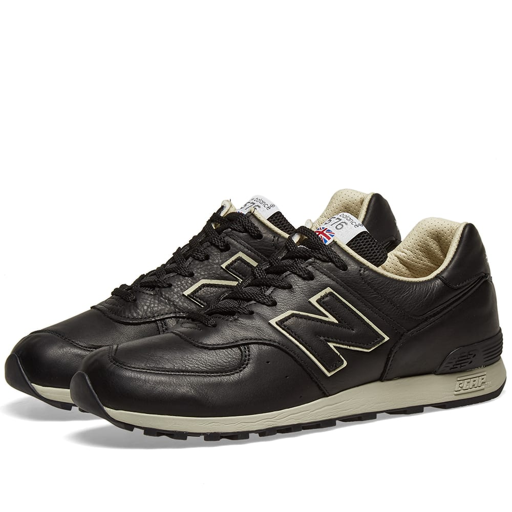 Details about Men's New Balance 576 CKK UK Size 9 Black Leather Trainers Made in England