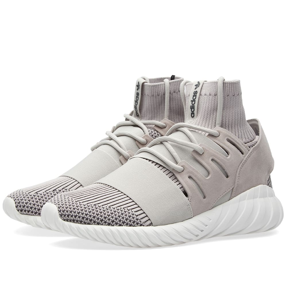 Women's Adidas Tubular Doom PK Grey White On feet Video at