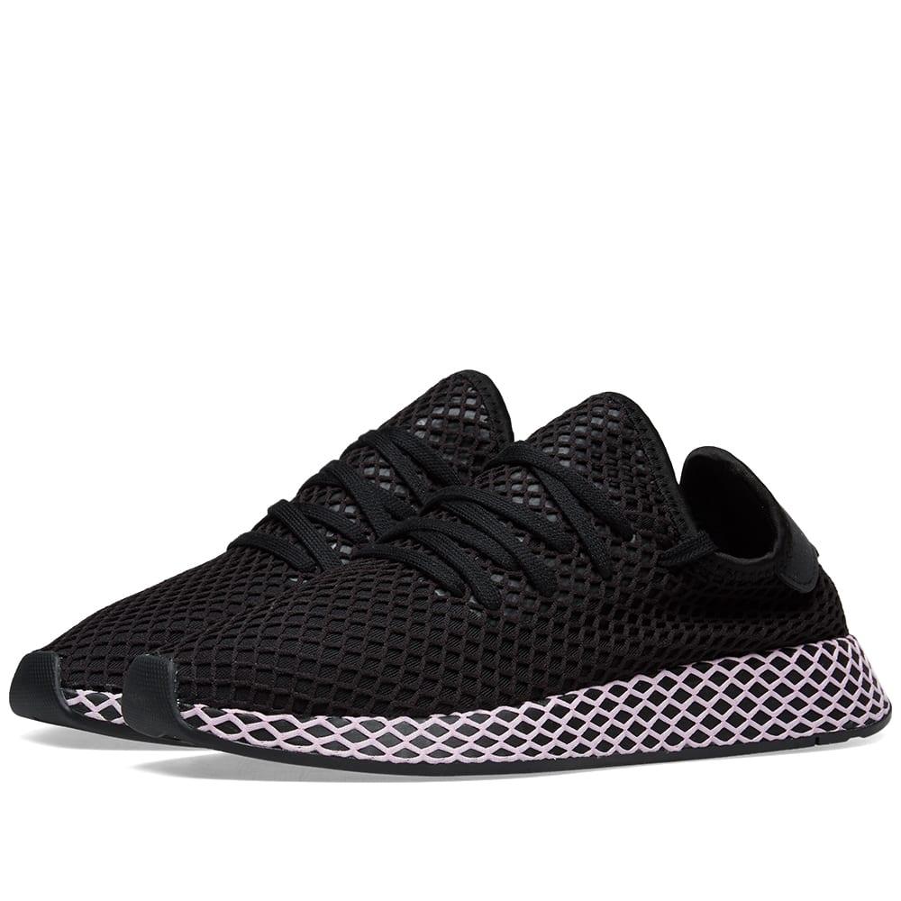 edf6226e4 Adidas Deerupt W Core Black   Clear Lilac