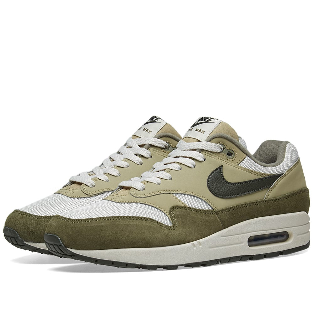 info for bda75 0169a Nike Air Max 1 Olive, Sequoia   Bone   END.