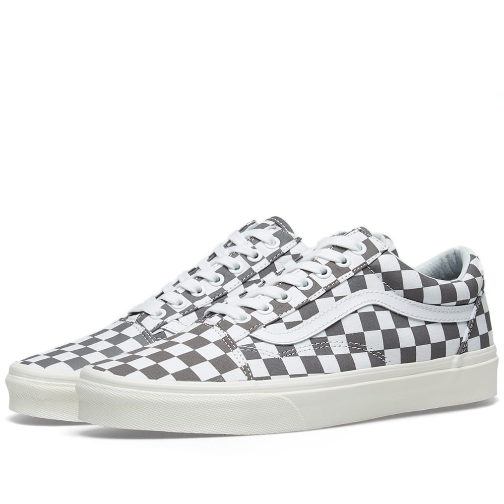 0b4246c2a86e5 Vans Old Skool Checkerboard In Grey