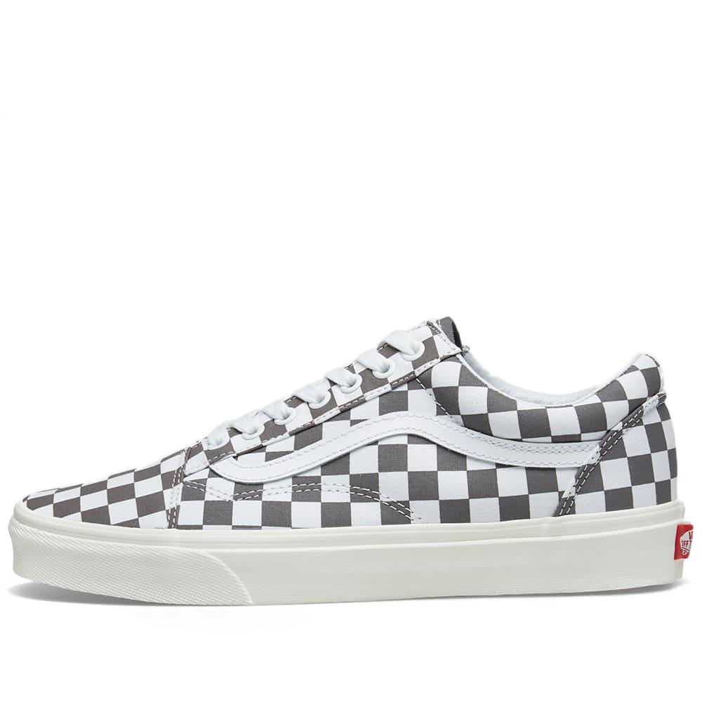 f392cd5743 Vans Old Skool Checkerboard Pewter   Marshmallow