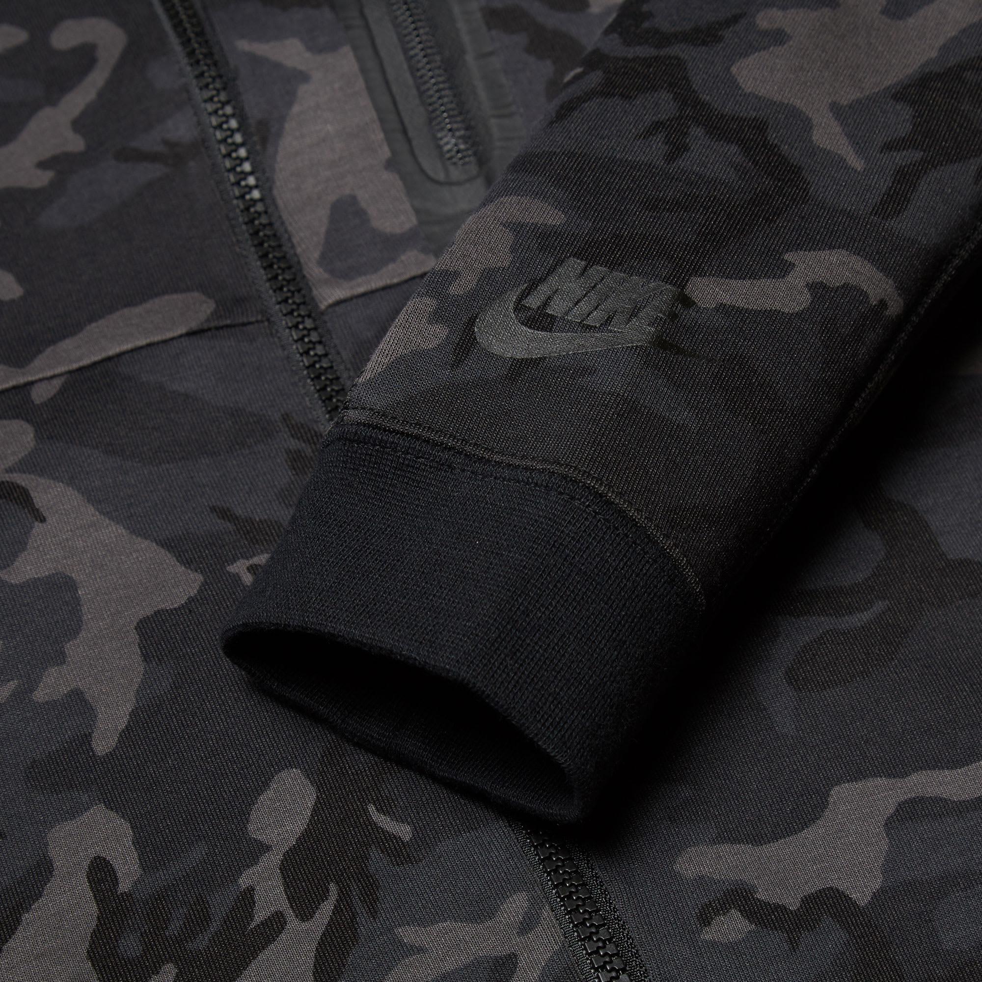 93a4db32a5c56 Nike Tech Fleece Camo AW77 Hoody Medium Ash & Black   END.