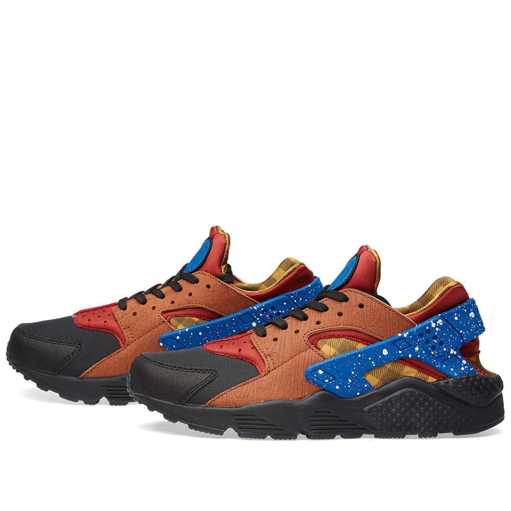 c29b5512dfc9 Nike Air Huarache Run  Campfire  Dark Cayenne   Blue Spark