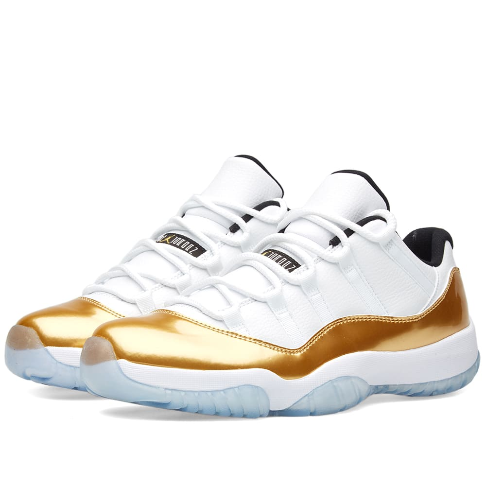 Jordan Shoes White And Gold Retro