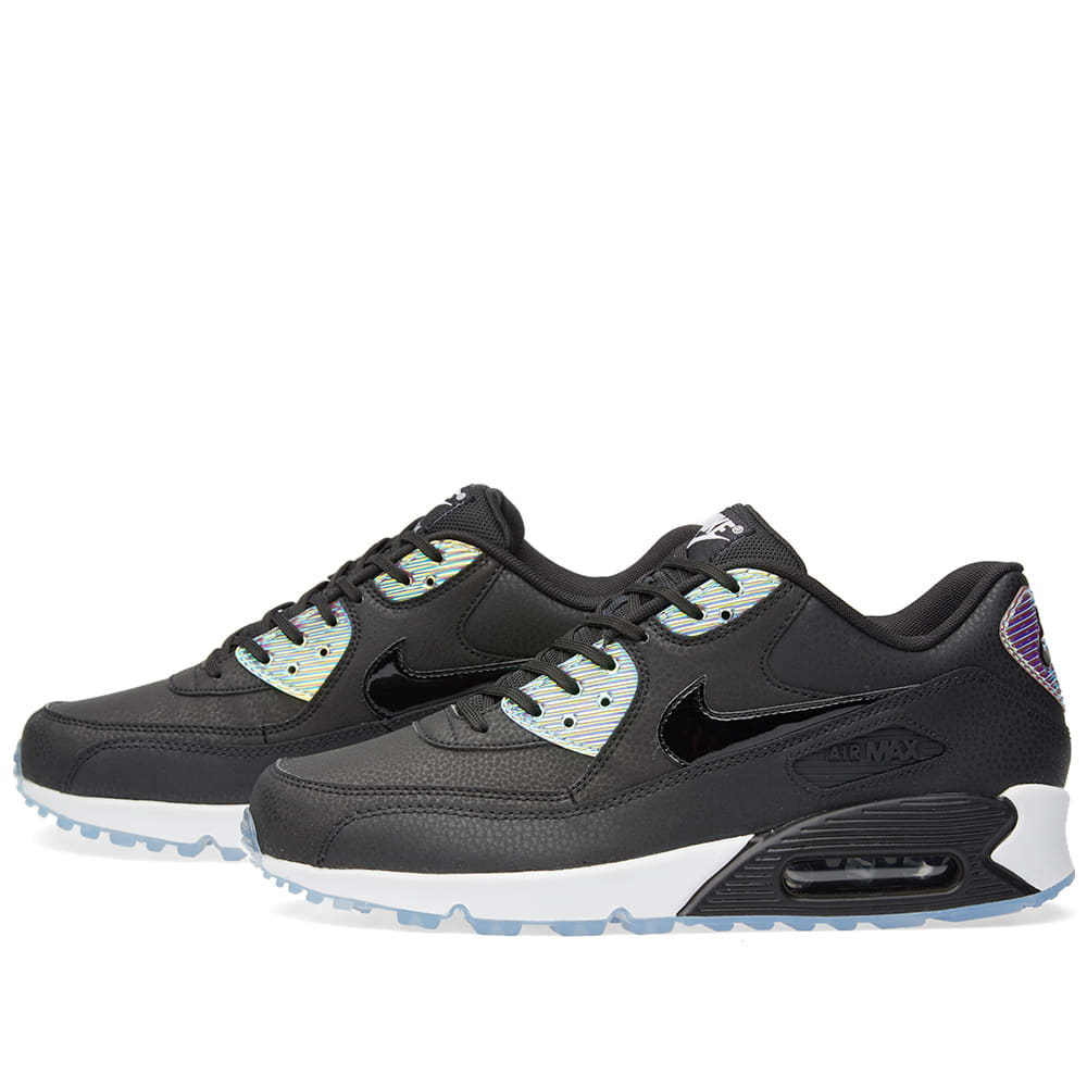 cheap for discount 0edfe 64261 Nike W Air Max 90 Premium Black   Pure Platinum   END.