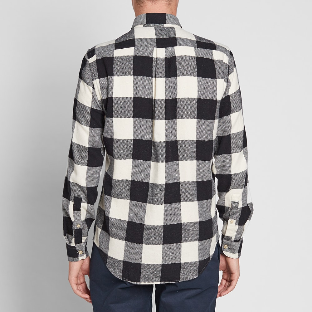 67f36371 Portuguese Flannel Buffalo Plaid Shirt Black & White | END.