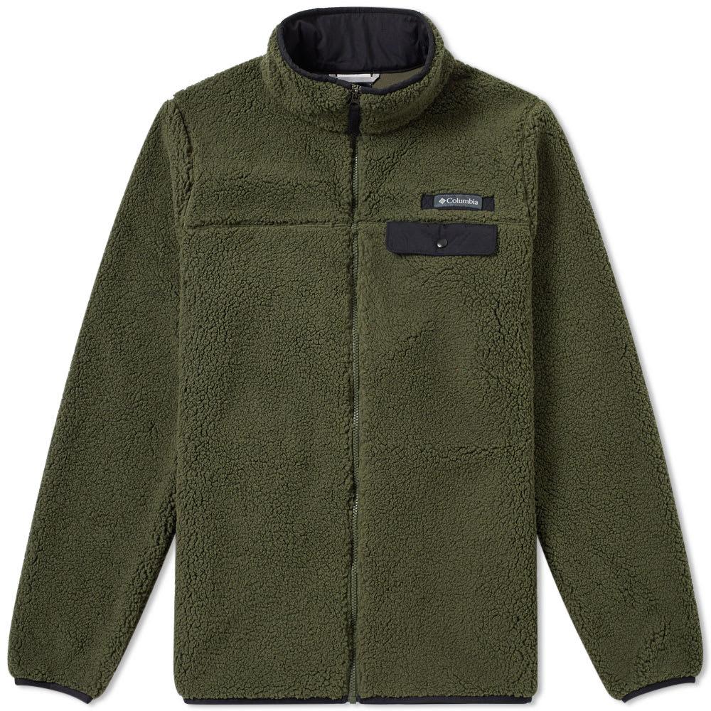 Columbia Mountain Side Heavyweight Fleece Surplus Green