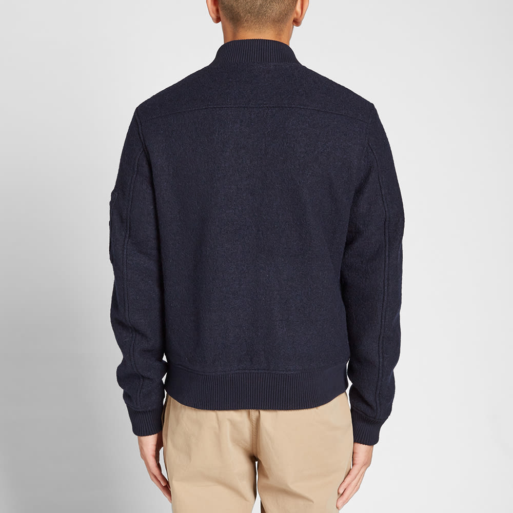 cba910425d GANT Rugger Wool Bomber Jacket Navy | END.