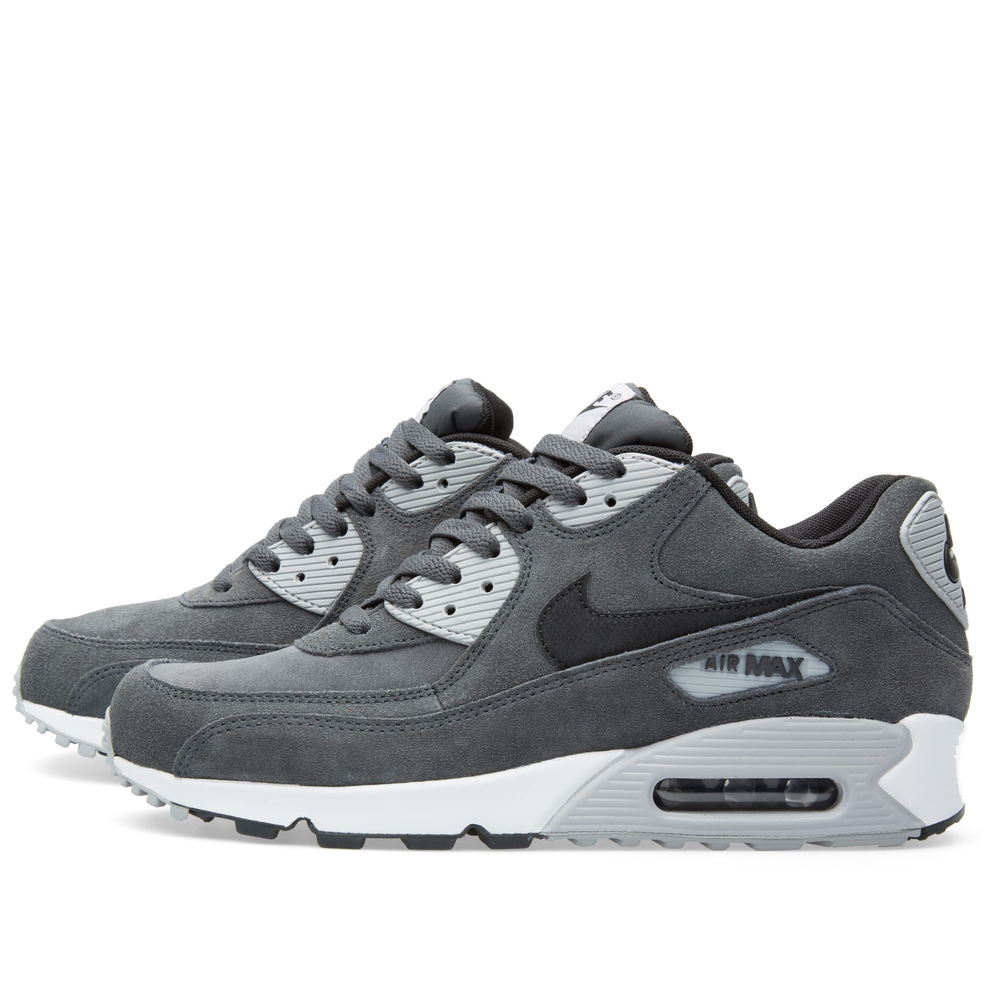 quality design 5ded5 408c2 Nike Air Max 90 Leather Anthracite, Black   Wolf Grey   END.