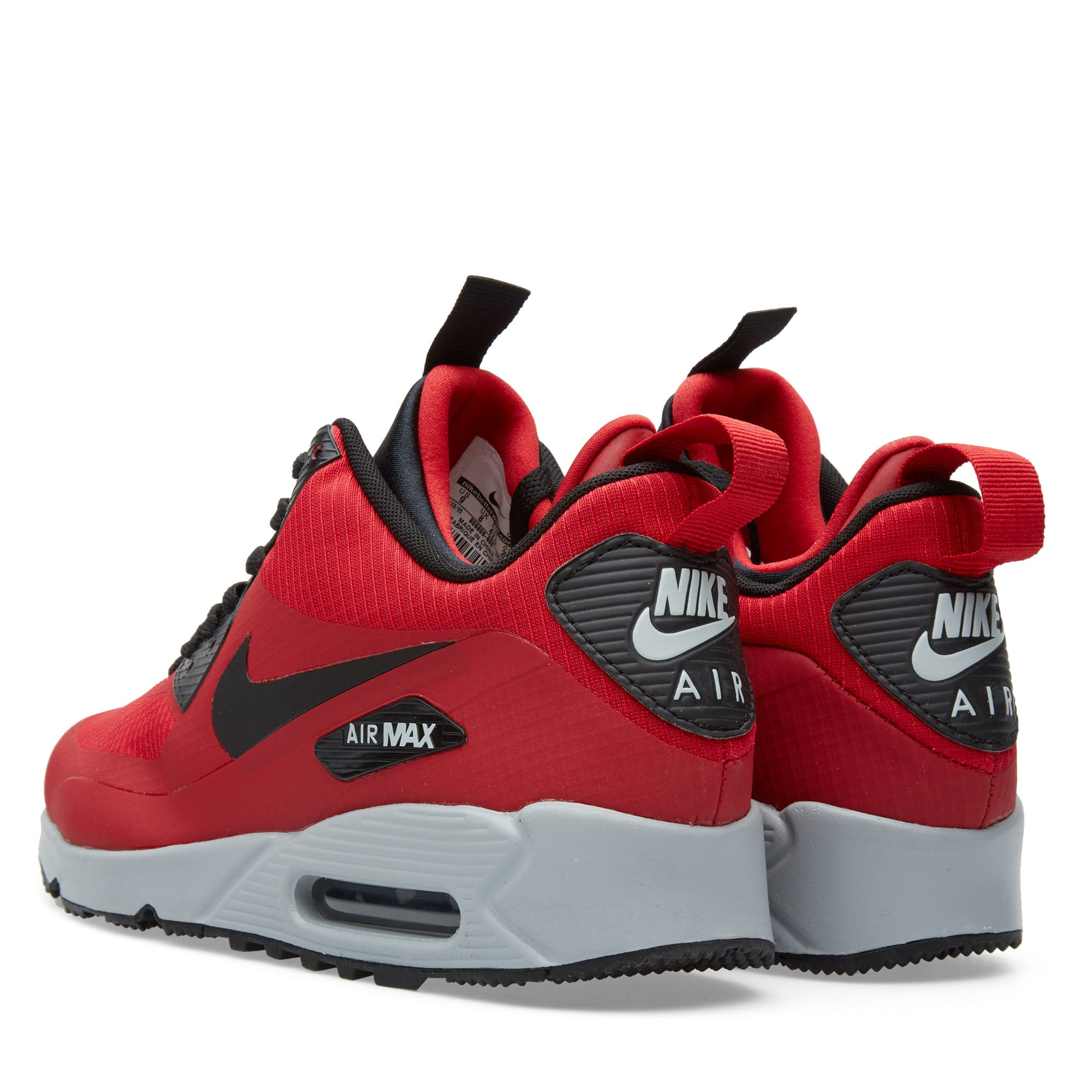 detailing 29acb 210ed Nike Air Max 90 Mid Winter Gym Red, Black   Wolf Grey   END.