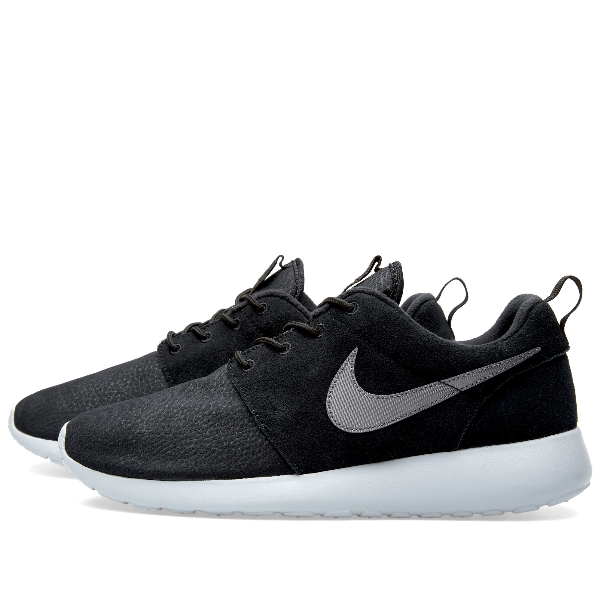e528c01c211 Nike Roshe One Suede Black   Wolf Grey