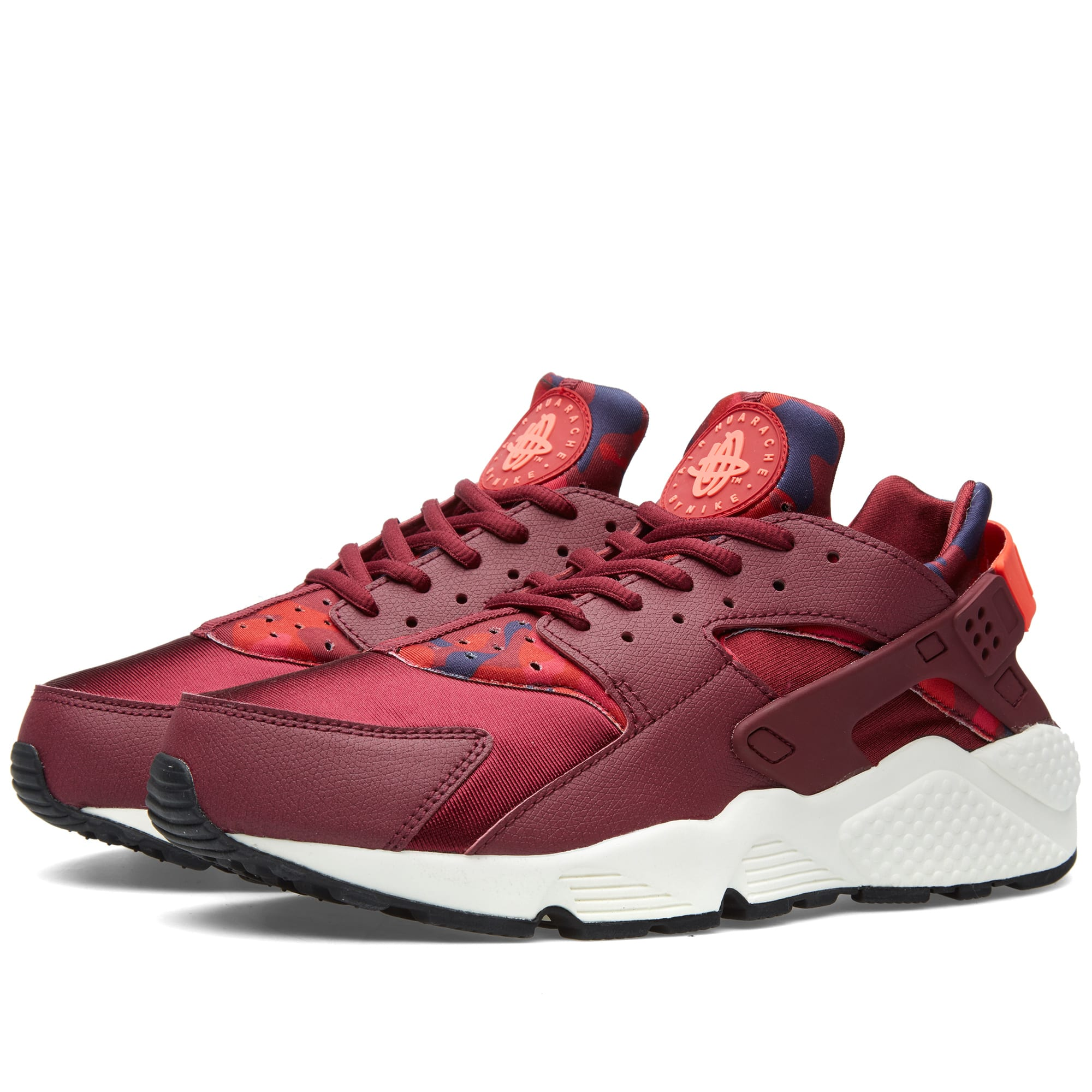 nike w air huarache run print deep garnet bright crimson. Black Bedroom Furniture Sets. Home Design Ideas