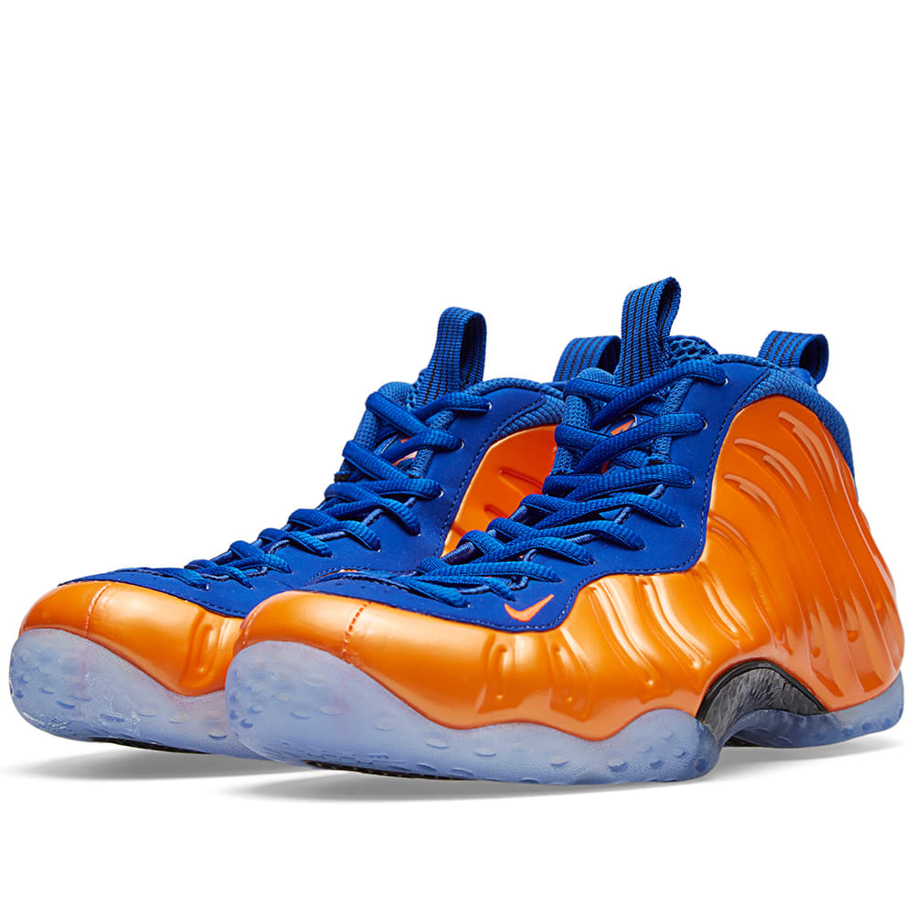 reputable site 50467 a9b0d Nike Air Foamposite One  Knicks  Total Crimson   Game Royal   END.