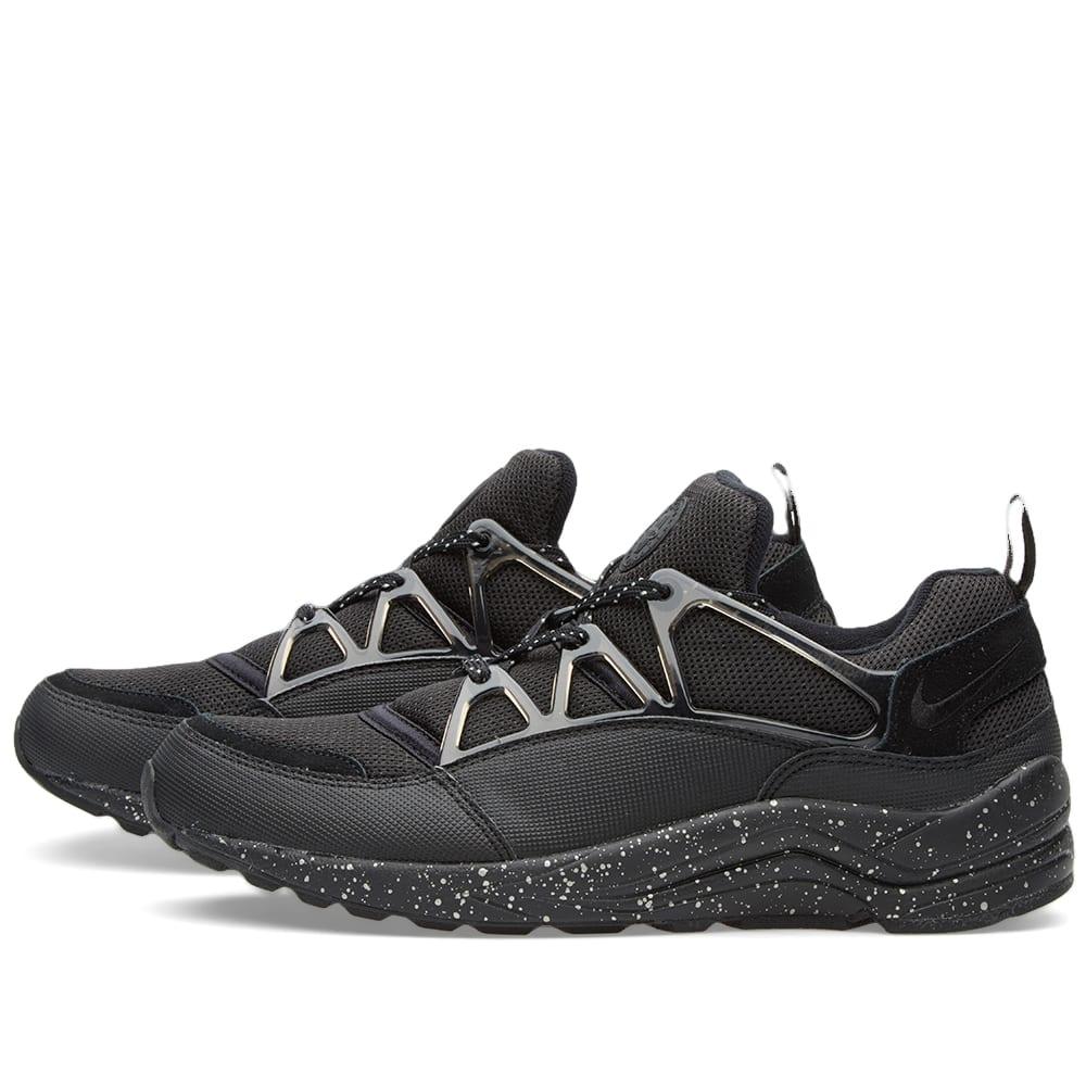 sports shoes 05b27 dfd26 Nike Air Huarache Light Premium Black   Metallic Silver   END.