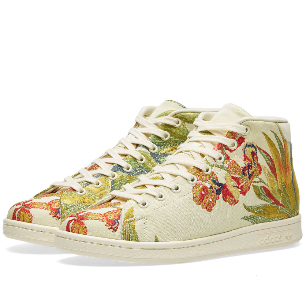 Adidas x Pharrell Williams Stan Smith Mid Jacquard Cream \u0026 White