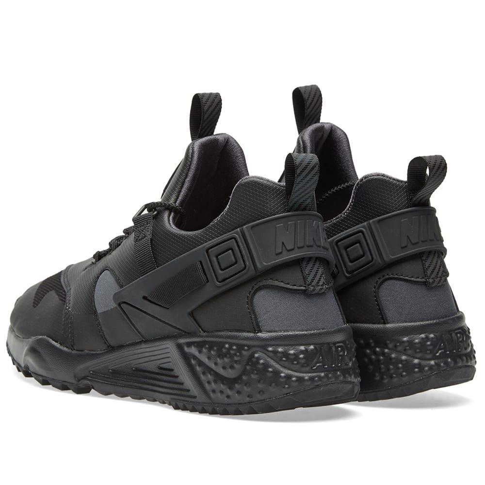 bc2bf93aec16 Nike Air Huarache Utility Premium Black   Anthracite
