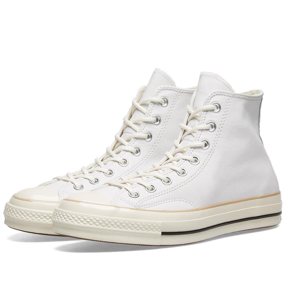645679554b1e Converse Chuck Taylor 1970s Hi Leather Boot White