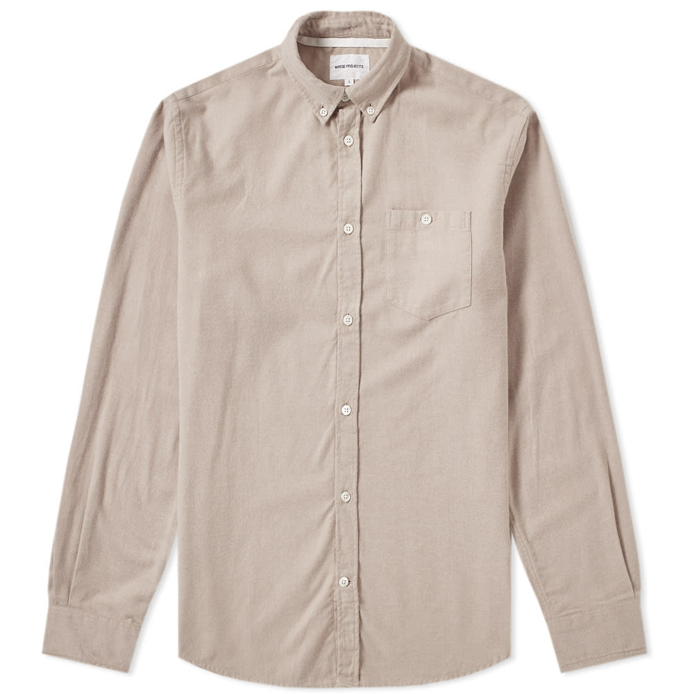 0172f00ed Norse Projects Anton Brushed Flannel Shirt Utility Khaki