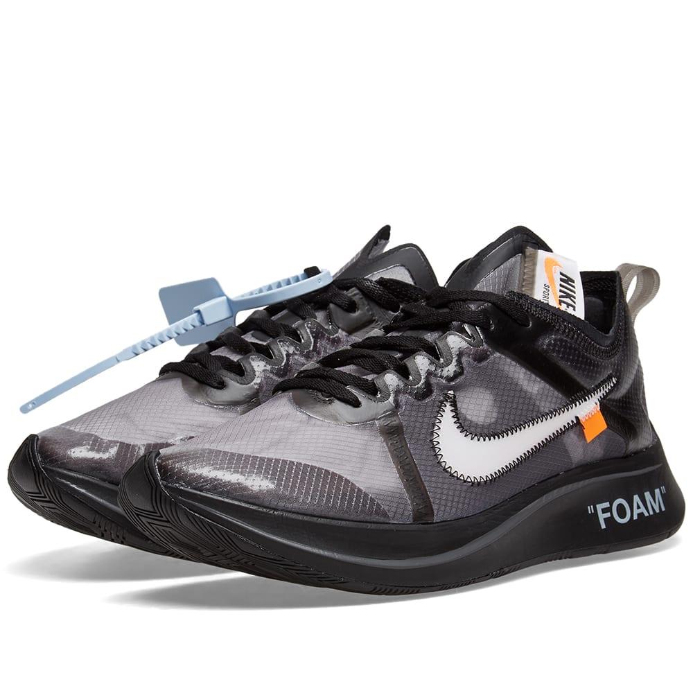 c20d7d53bfe5e The Ten   Nike Zoom Fly x Virgil Abloh Black   White