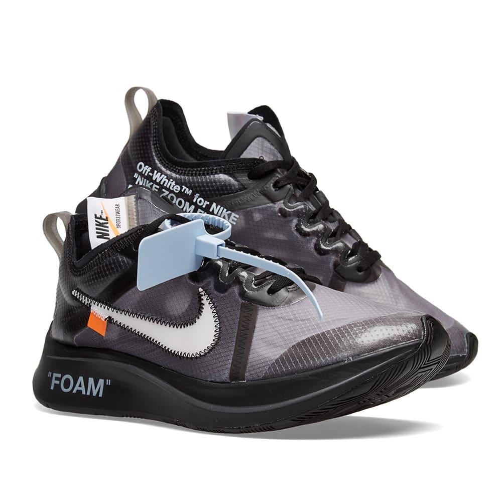 a007e8e2 The Ten : Nike Zoom Fly x Virgil Abloh Black & White | END.