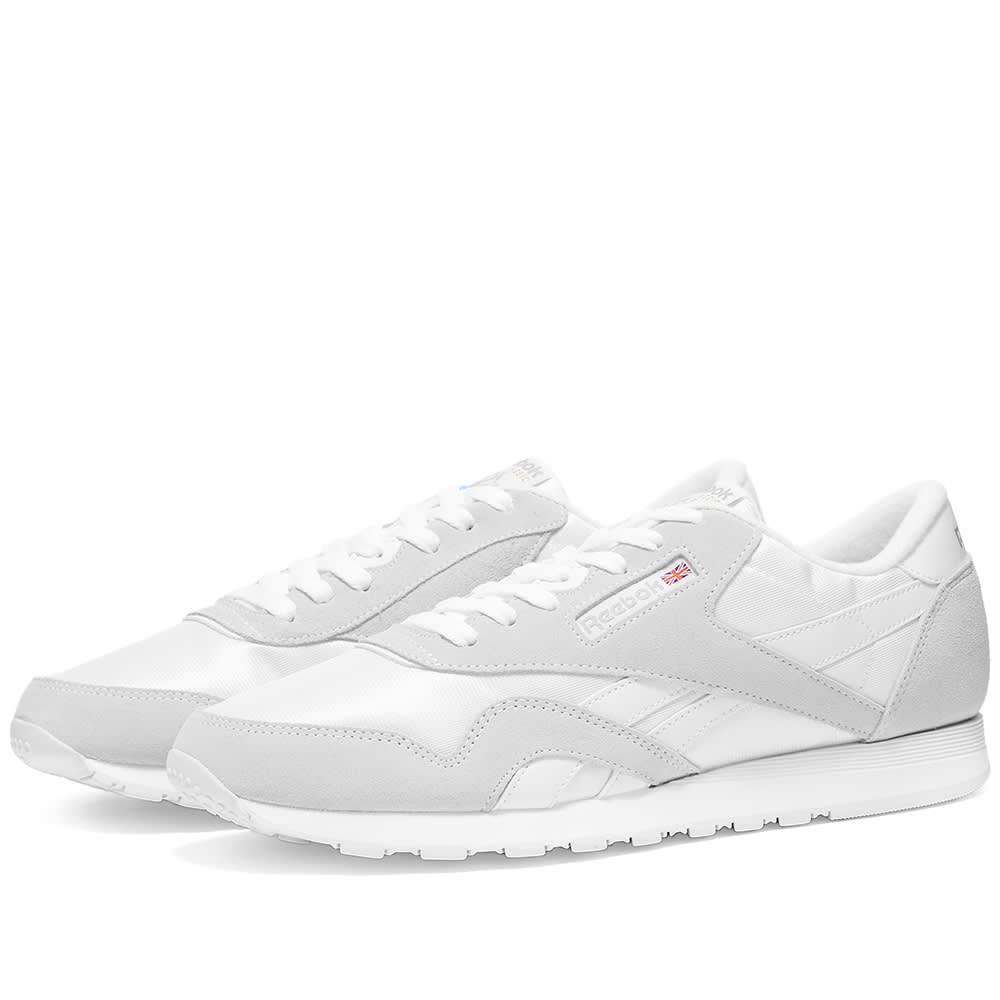 Reebok Classic Nylon White \u0026 Light Grey