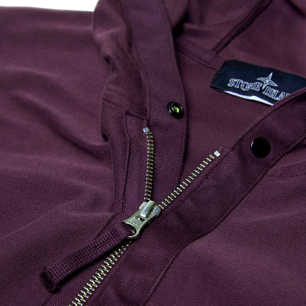 Stone Island Shadow Project Garment Dyed Full Zip Hoody (Bordeaux)