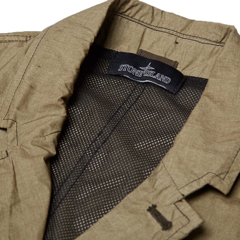 5abb5f36e Stone Island Shadow Project Resin Treated Garment Dyed Blazer Military