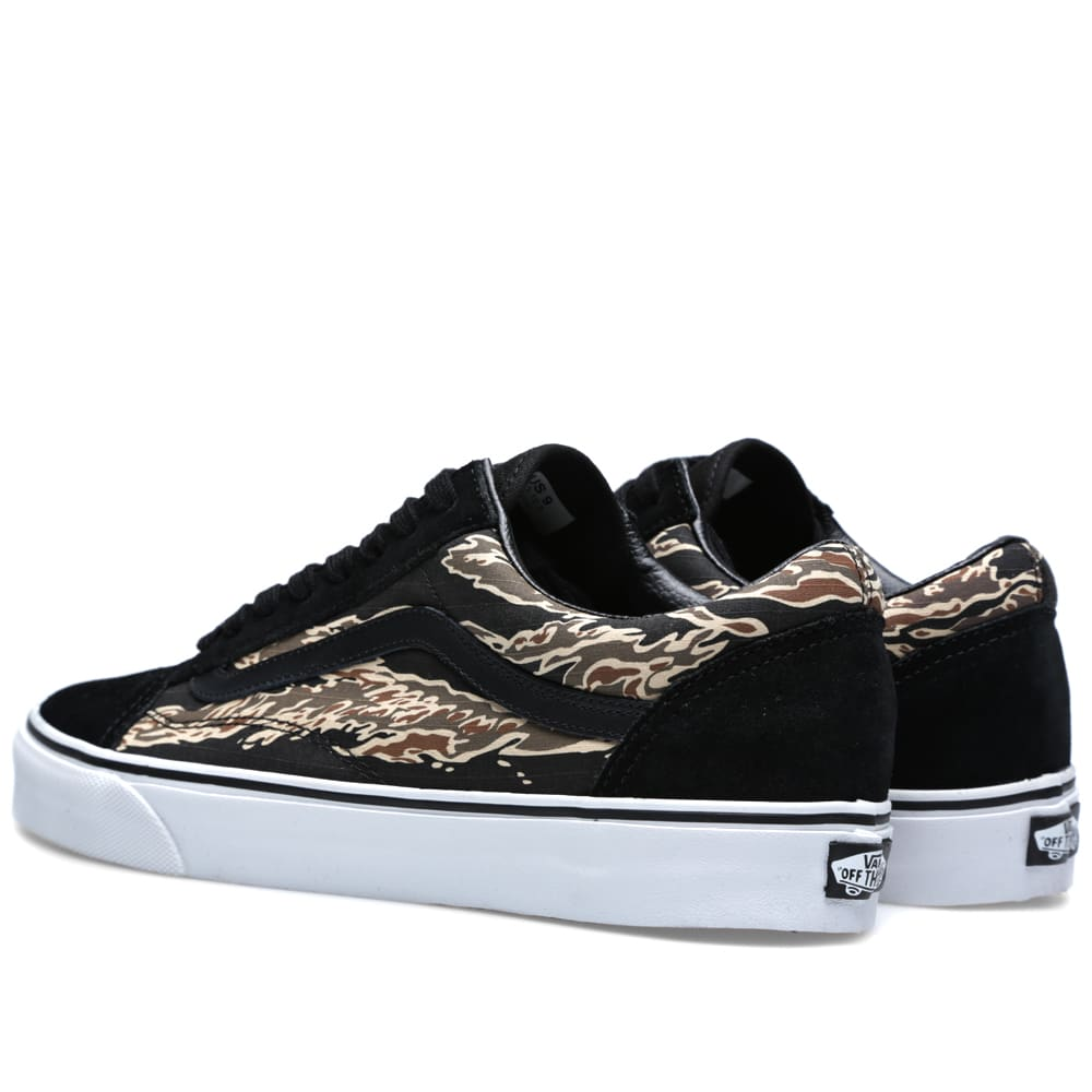 5b49fc4525 Vans Old Skool Suede Tiger Camo Black