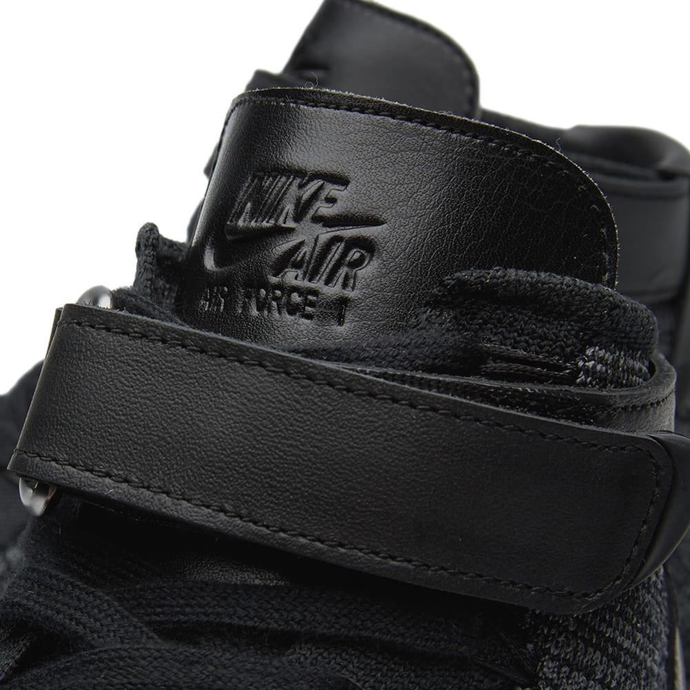 1e3b0e11281d Nike Air Force 1 Flyknit Dark Grey   Black