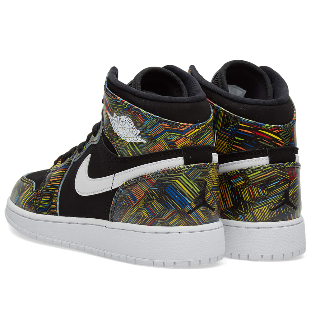 premium selection 4a9a9 03762 Nike Air Jordan 1 Retro High BHM GG Black, White   Voltage Green   END.