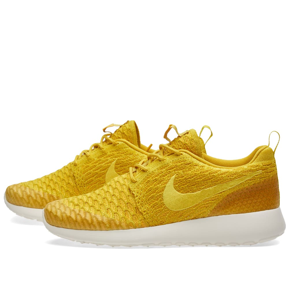 check out 0d62f 6d5f2 Nike W Roshe One Flyknit Gold Lead   Sail   END.