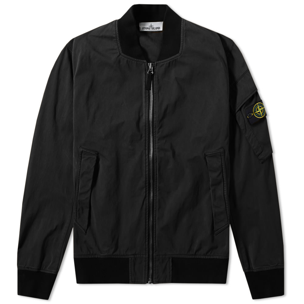 Stone Island David Jersey-TC Bomber Jacket (Black)
