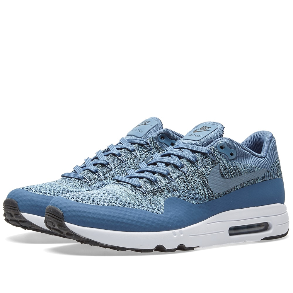 huge selection of 92f24 c0934 Nike Air Max 1 Ultra 2.0 Flyknit Ocean Fog   Mica Blue   END.