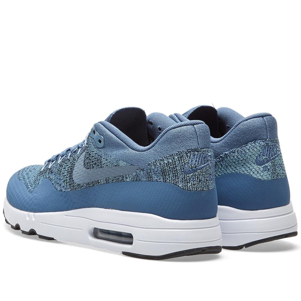 c7cf3e610fac6 Nike Air Max 1 Ultra 2.0 Flyknit Ocean Fog   Mica Blue