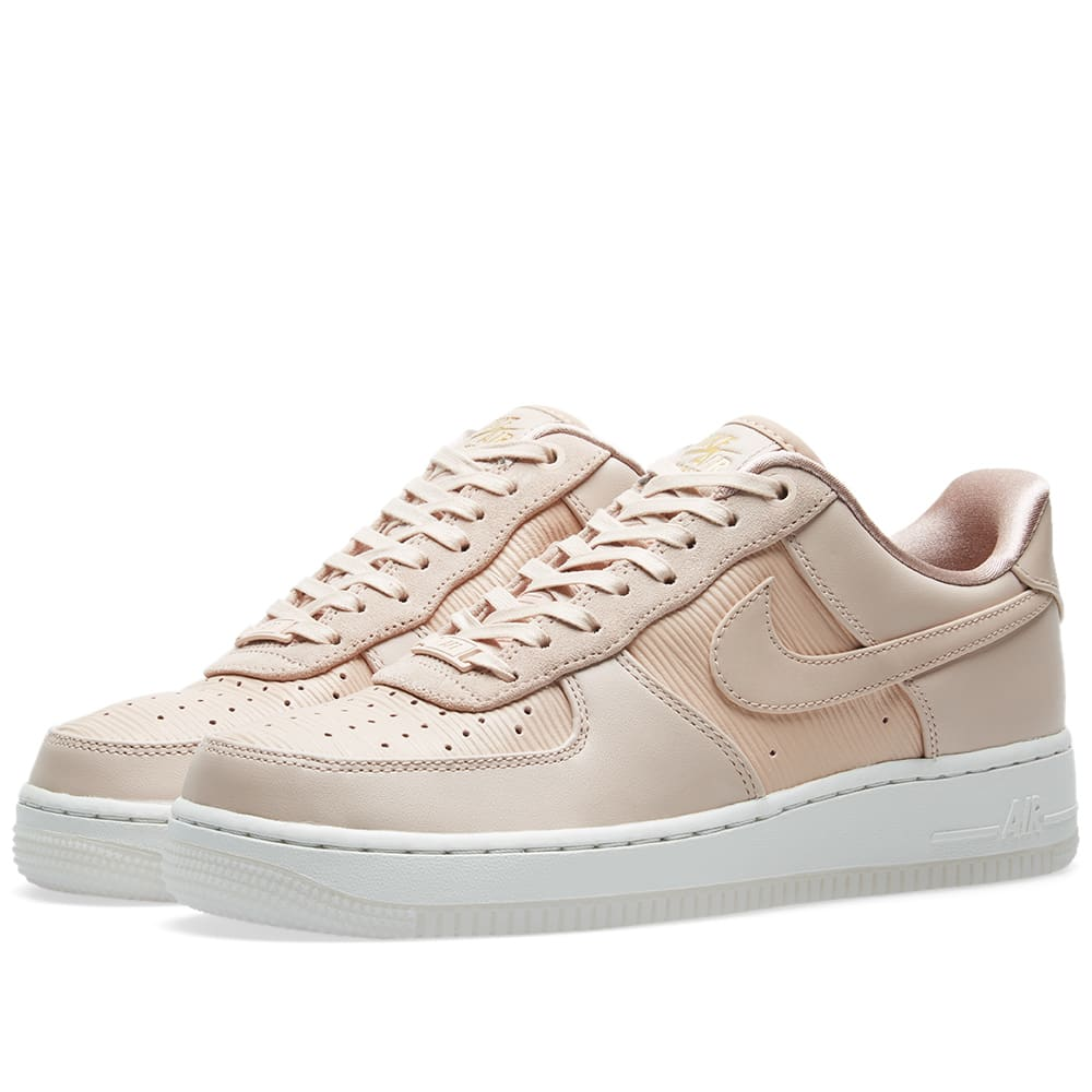 Nike Air Force 1 '07 Lux W Beige, White, Pink & Gold | END.