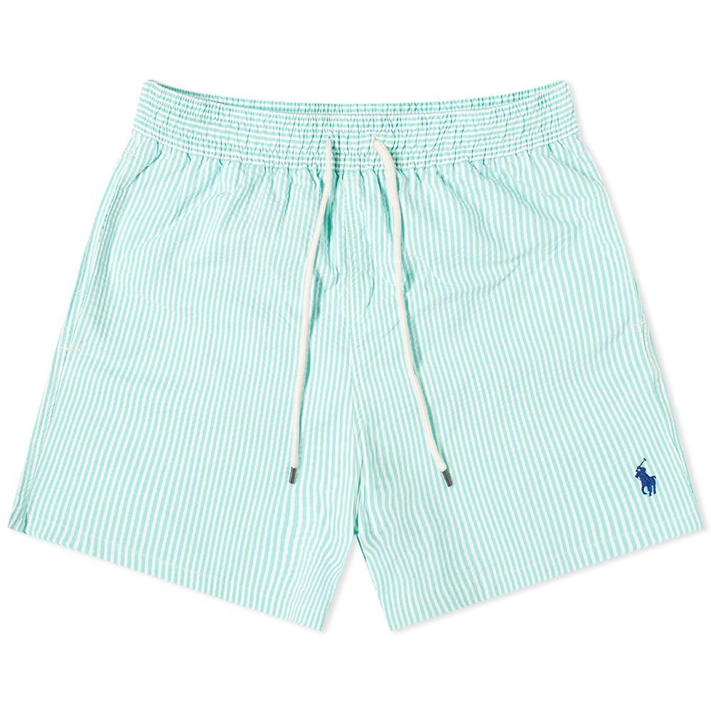 Polo Ralph Lauren Seersucker Traveller Swim Short Hawaiian Green