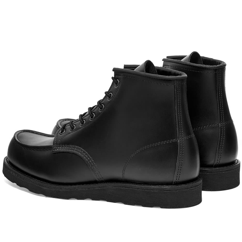 moc toe black boots