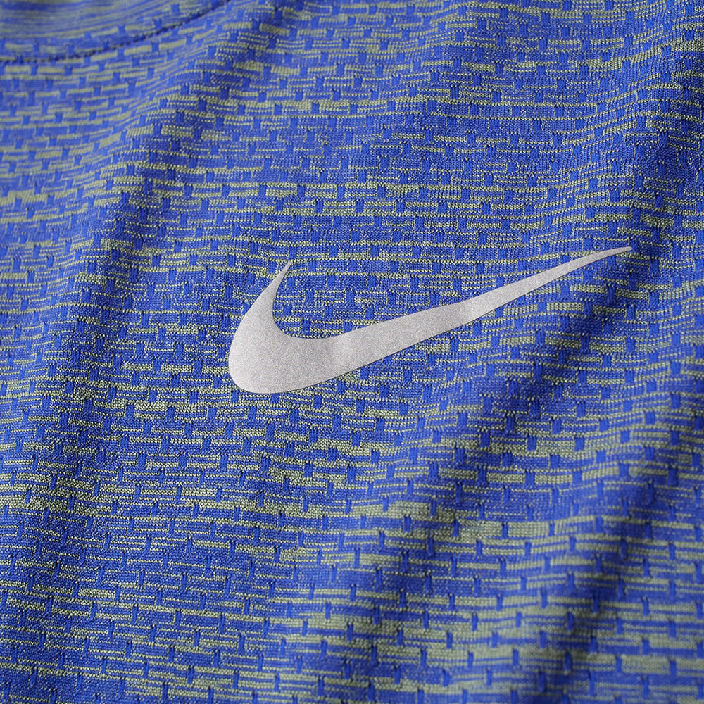 a09a089c Nike Long Sleeve Dri-Fit Knit Tee Paramount Blue & Palm Green | END.