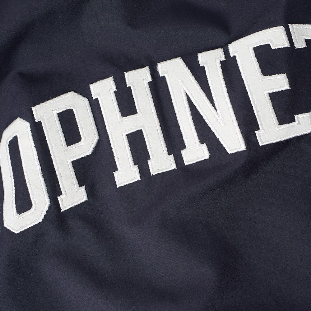 SOPHNET. Chest Line Zip Up Anorak Navy