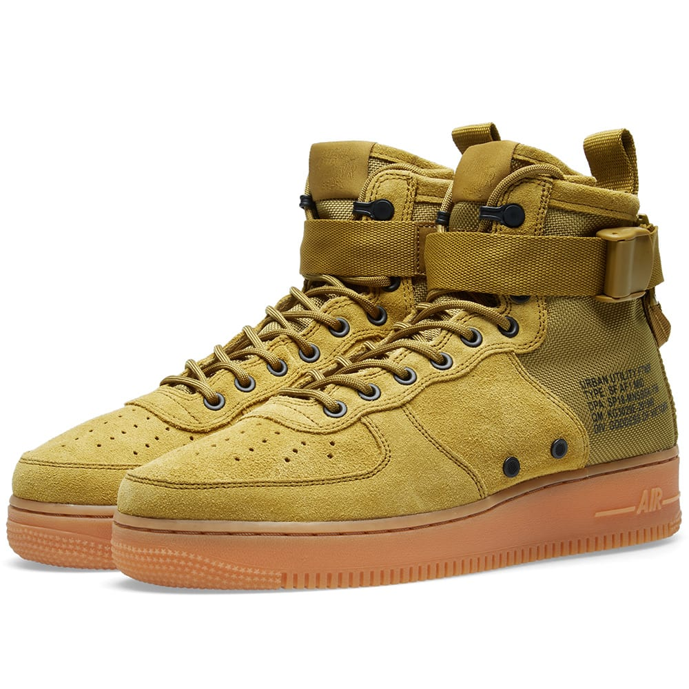 info for 9ab44 9f70c Nike SF Air Force 1 Mid Desert Moss, Gum   Black   END.